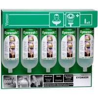 Tobin Eyewash Stationary Stand - 5 Bottles.  T124