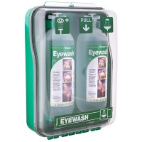 Tobin Dust Protected Cabinet Eyewash Mobile Stand - 2 Bottles.  T130