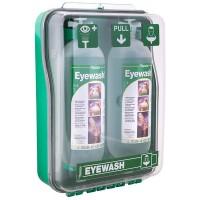 Tobin Dust Protected Cabinet Eyewash Mobile Stand - 2 Bottles.  T130