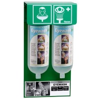 Tobin Eyewash Stationary Stand - PH Neutralising Buffer Solution - 2 Bottles.  T429
