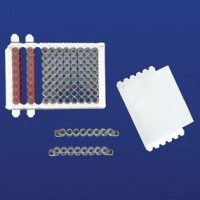 PlateSeal Polypropylene Film, 1X8 Incubation SealStrips - STERILE.  PS-PPSS-400S