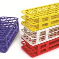 60 Place Snap & Fold Test Tube Racks 16mm, White