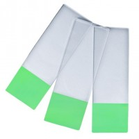 Pure White Microscope Slide, Super White Glass, GREEN Colour Frosted 1 end, 1 side.  0312-6101-08