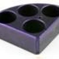 4 Holes, Purple Quarter Pie