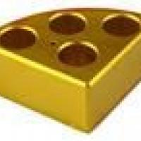 4 Holes Golden Quarter Pie