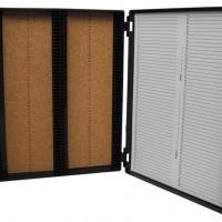 Black 100 Place Slide Storage Box.  0500-4100-B