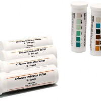 0-5ppm Chlorine Indicator Strips, 161.1C  -CLEARANCE