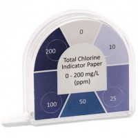 0-200mg/L Total Chlorine Indicator Paper.  020.5