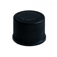 13mm Black Screw Cap, Polypropylene.  C132