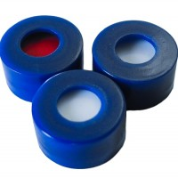 9mm Blue Cap,  Pre-Slit Septa, Short Thread, Polypropylene.  SC91191