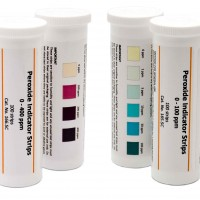 0-100ppm Peroxide Indicator Strips, 165.5C -CLEARANCE
