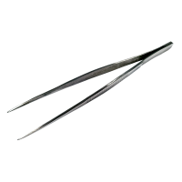 160mm Forceps, Straight Serrated Fine Tip.  0301-1160