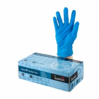 LARGE Nitrile Powder Free Gloves, Blue.  100-253