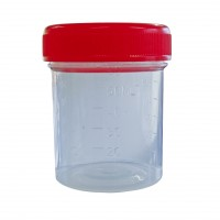 60ml  Sample Containers with Red Screw Cap - Clearance