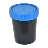 50ml Black Polypropylene Sample Container, 600pk