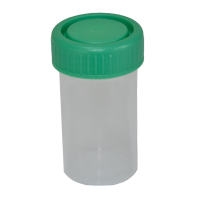 40ml Leak-proof Sample Container, Green Screw Cap, Sterile.  4020-2006-08