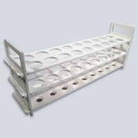 White 18 Place Test Tube Stand, 202040-W