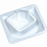 100ml Square Weight Boats White