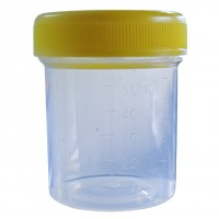 60ml Sample Containers with Yellow Screw Cap -Clearance