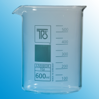 600ml Low Form Glass Beaker.  3351011200003