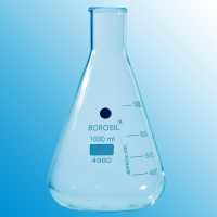 1000ml (1 Litre) Erlenmeyer Flask With Beaded Rim.  4980029