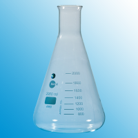 2000ml (2 Litre)  Erlenmeyer Flask With Beaded Rim