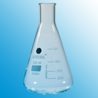 500ml Erlenmeyer Flask With Beaded Rim.  4980024