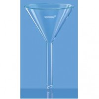 100mm Plain Glass Funnel, Long Stem.  6140077