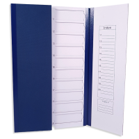 BLUE 20 place Coloured Slide Mailers.  0500-8020-02
