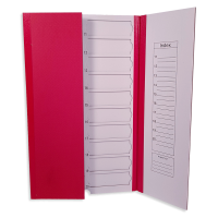 20 place Coloured Slide Mailers, 5pk - RED.  0500-8020-13