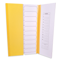 20 place Colourd Slide Mailers, 5pk - Yellow
