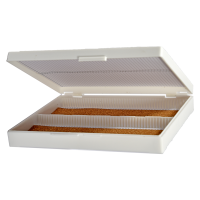 100 Place White Microscope Slide Box