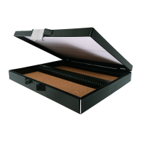Black 100 Place Slide Storage Box.  0500-4100-01