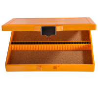 100 Place Orange Microscope Slide Box