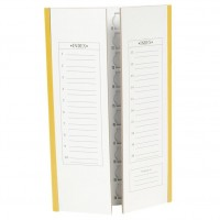 20 place Coloured Slide Mailers, 5pk - YELLOW