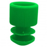 Green Plug Type Caps Suitable For 5ml Culture Tube.  KJ714-G