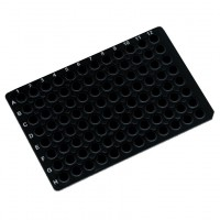 96 Well PCR Plate, Black Opaque.  3967-521