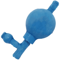 Rubber Pipette Filler, Blue.  4342-0011