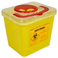 2.1L Square Sharps Container.  KJ827-1