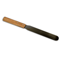 6 inch Oinment Spatula - Wooden Handle