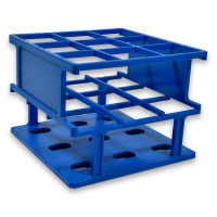 20 Place, 20mm One Rack, Half Size, Blue.  201017-B