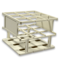 36 Place Polywire Rack, Half Size, White  201010-W