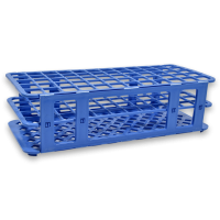 60 Place Tube Rack, Blue.