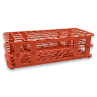 60 Place Tube Rack, Red.  4050-4106-13