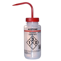 500ml Wash Bottle, Wide Mouth, Safety Labelled Acetone
