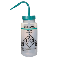 500ml Wash Bottle, Wide Mouth Labelled Methanol